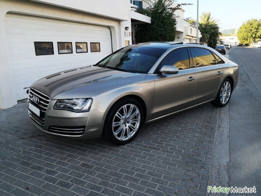 Audi A8L, 4.2L FSI Quattro, Full Option, Luxury Feature, GCC Specs. الشارقة الإمارات